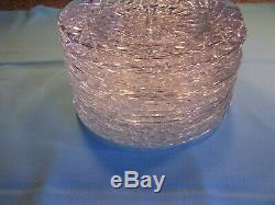 12 Exce. Acid Etched Waterford / Ireland Crystal 7 3/4 Salad / Dessert Plates