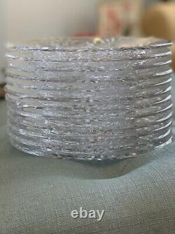 12 MILLER ROGASKA Crystal Dessert/Salad Plates