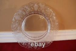 12 Vintage Cambridge Glass Rose Point Dinner Plates 10 Inch