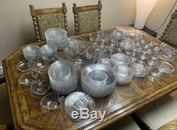 12 Vintage Imperial Candlewick Clear Crystal Dinner Plates, 10 1/4