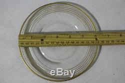 12pc Set Vintage Tiffin Franciscan Clear Glass GOLD BANDS 6 Bread Butter Plates