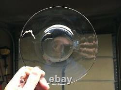 14+1 STEUBEN Clear Glass Dinner Plates 7 diam. Full signature c1950s