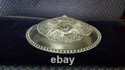 1887 EAPG RARE PAIR OF BOTH CAT & DOG PLATES Columbia Glass Co. Findlay Ohio