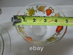 1970 Arcoroc Glass Dish Luncheon 19 piece set Vegetable Peppers Mushrooms bowl