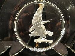 (2) STEUBEN, Audubon 10 dinner plate's 1940's Osprey & Bald Eagle