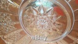 20 1/2 L. E. Smith Elegant Glass Colonial Punch Bowl Under Plate Torte Platter