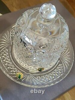 2000 Waterford Crystal Society Sean O'donnell Dessert Dome 104790 Signed