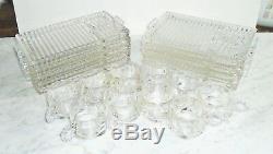 20pc Vintage Hazel Atlas Candlewick Boopie Snack Sets 10 Cups, 10 Plates