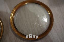4 / ANNIE GLASS Roman Antique 24K GOLD TRIM Glass 10 1/4 PLATES