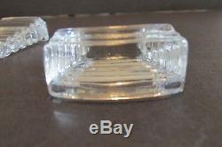 4 Baccarat RARE Crystal RISERS Antique Supports for Asparagus Plates Deco Wedges