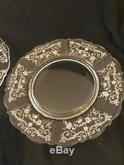 4 Cambridge Chantilly 10 Dinner Plates, 1936-1958