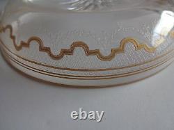 4 St Saint Louis Crystal Beethoven Dessert Plates Bowls Gold Sauce Fruit 5