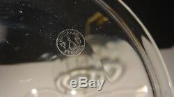 4 Vintage Baccarat Crystal Bread & Butter Dessert Plates Signed 5 3/4