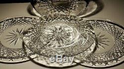 4 Vintage Waterford Crystal Alana 8 Luncheon Plates Ireland