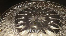 4 Vintage Waterford Crystal Colleen 8 Luncheon Plates Ireland