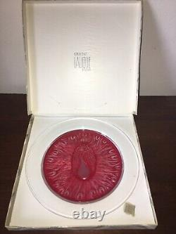6 LALIQUE CRYSTAL VINTAGE COLLECTOR PLATES Indiv/Set 1966-1976 FRANCE Pristine