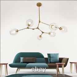 6-Light Modern Glass Bubble Chandeliers Hanging Pendant Lamps Lighting Fixtures