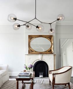 6-Light Modern Tree Branch Chandeliers Glass Globe Ceiling Pendant Lamp Lighting