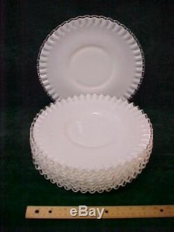 6 Vintage Fenton Silver Crest Dinner Plates 10-5/8 inch