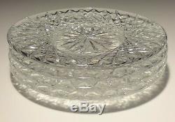 6 Vintage Waterford Crystal Alana 8 Luncheon Plates Ireland