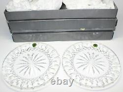 6 Waterford 8 Accent Plates Lismore & Overture New In Boxes