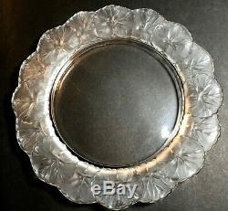 8 1/4 Lalique Crystal Honfleur Dessert Salad Decorative Plate