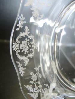 8 Elegant Glass Era Fostoria Luncheon Plates Navarre Pattern