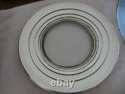 8 Rare MCM Dorothy Thorpe 4 Silver Band Dinner Plates All Signed