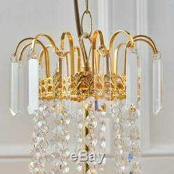 9 Light Chandelier Gold Plate & Faceted Glass Dimmable Adjustable Dia 550mm