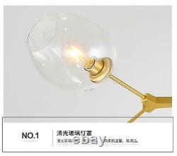 9-Light Molecule Glass Ceiling Chandelier Metal Tree Branch Pendant Lamp Fixture