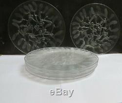 9 Rare Vintage Desert Plates Lalique Company Saint Sylvestre Pattern