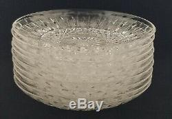 (9) St Louis Cristal TOMMY Plates 5 6/8 Finger Bowl Liners or Bread Plates