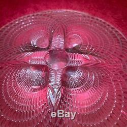 A Rare Rene Lalique Coquilles pattern clear & frosted glass plate, circa 1924