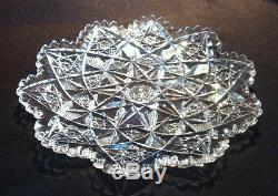 ABCG Cut Glass Plate 7 1/8 signed Hawkes