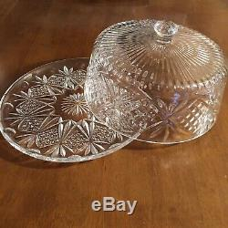 ABP American Brilliant Period Covered Cake Plate
