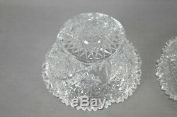 ABP Parsche Marshall Field Propeller Pattern Cut Crystal Mayonnaise Bowl & Plate