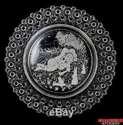 ANT EAPG Pattern Glass Nursery Rhyme Child Plates Set 8 Boy Blue Mary Muffet L7Y