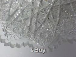 American Brilliant Period Cut Glass 10 Plate, c. 1880-1900