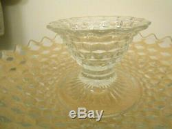 American Fostoria Clear Glass 13 Shrimp and Chip Dip Bowl Plate Serving Platter