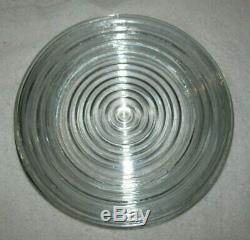 Anchor Hocking set of 4 MANHATTAN CLEAR 8 3/4 inches Salad Plates RARE Vintage