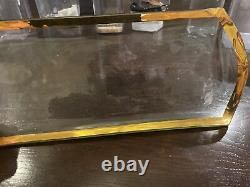 Annieglass Rectangle Glass Gold Rimmed Platter Plate Signed 311/312 17X 7 Large