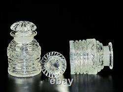 Antique American Brilliant Cut Glass Jam & Jelly Castor With Double Silver Plate