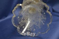 Antique Cut Crystal and Silver Plate Epergne 19th Century