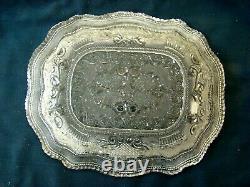 Antique Flint Glass Large Vegetable Platter, Rare EAPG, Lacy, Boston Sandwich