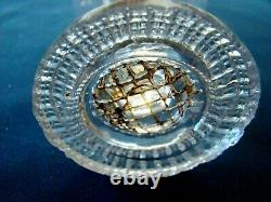 Antique Flint Glass Miniature Toy Sparking Whale Oil Lamp with Rare Toy Plate Base