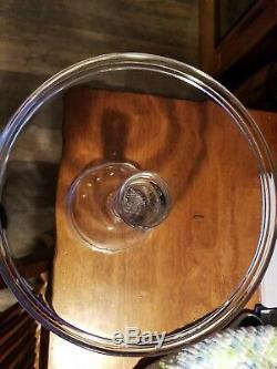 Antique Hand Blown Flint Glass cake plate