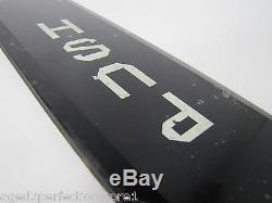 Antique'PUSH' Bevel Edge Glass Door Push Plate Sign Old Architectural Hardware