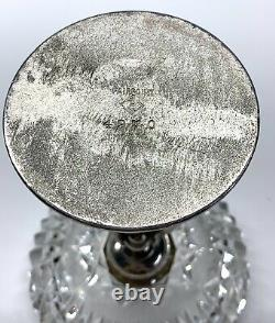 Antique Pairpoint-silver-plate-cherub-putti-crystal Ashtray-#4970-beautiful