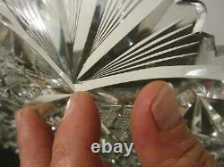 Antique Signed LIBBEY SULTANA American Brilliant Cut Glass 12 Plate Tray ABP