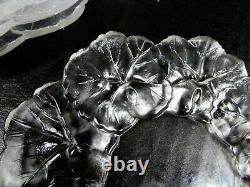 Art Deco Lalique Crystal Prance Honfleur 5 Small 6 dia Plates